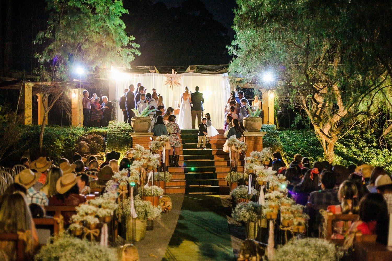 Recanto da Paz - Casamento com tema junino - Cerimonia