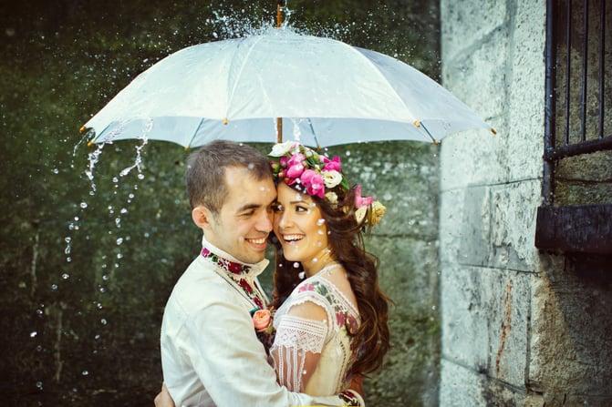 Choveu... e agora? Dúvida noivos Recanto da Paz